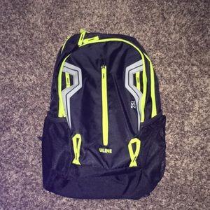 Uline 25L Black Daypack Backpack NWT